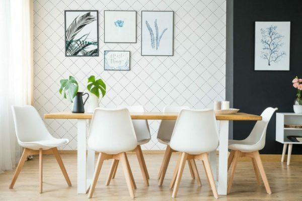 Self-adhesive geometric diamond wallpaper