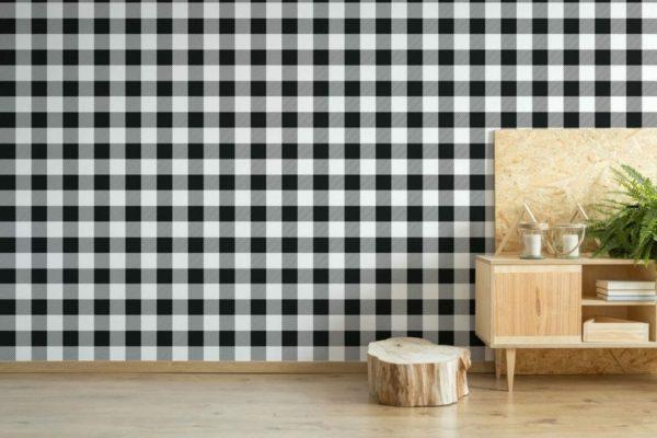 Self-adhesive grid wallpaper