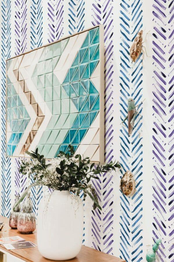 Self-adhesive Herringbone wallpaper