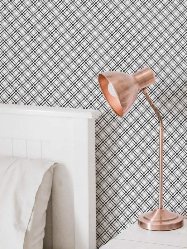 Self-adhesive mesh wallpaper