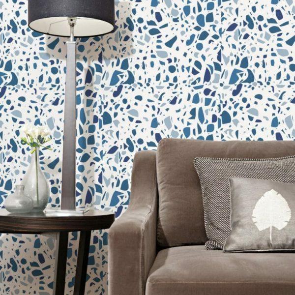 Self-adhesive terrazzo wallpaper