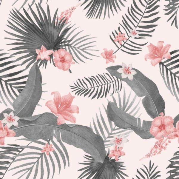 Self-adhesive tropical wallpaper