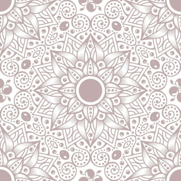 Peel and stick floral mandala wallpaper