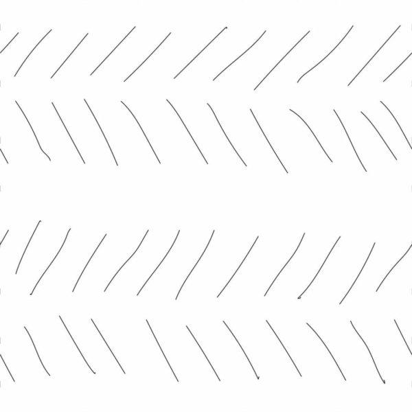 Peel and stick hand drawn herringbone wallpaper