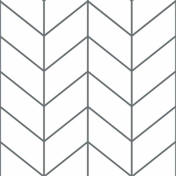 Peel and stick Scandinavian herringbone wallpaper