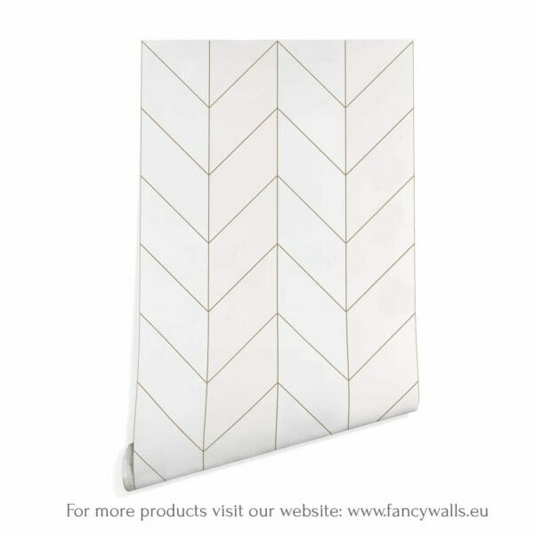 Brown and white bison herringbone wallpaper rolls