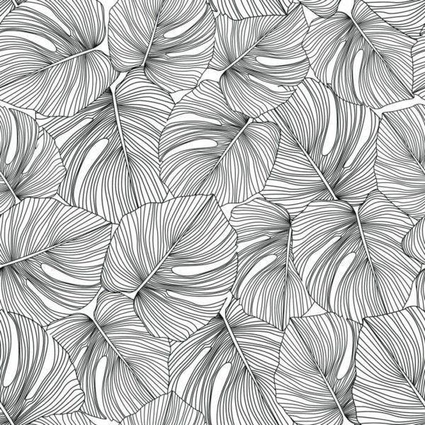 Peel and stick monstera leaves wallpaper