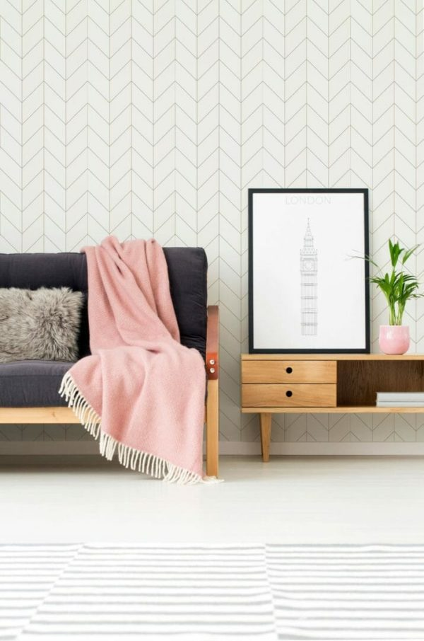 Removable brown and white wallpaper