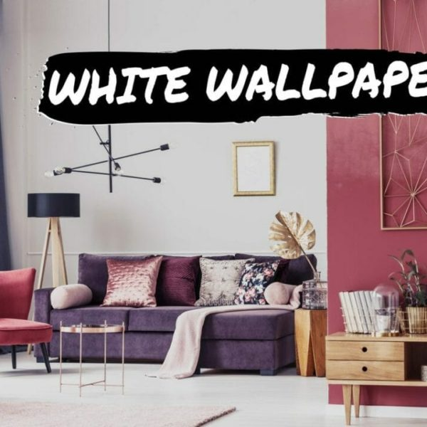 White solid self-adhesive wallpaper