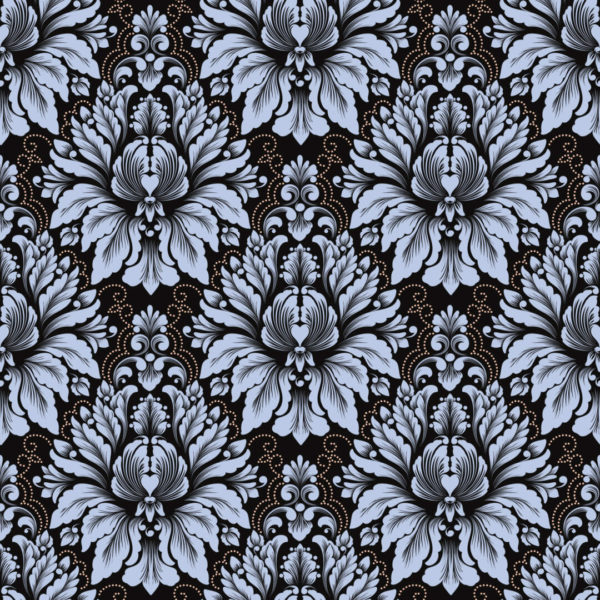 blue and black damask peel and stick wallpaper