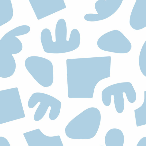 blue and white abstract shapes peel and stick wallpaper