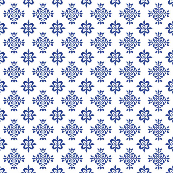 blue and white floral tile peel and stick wallpaper