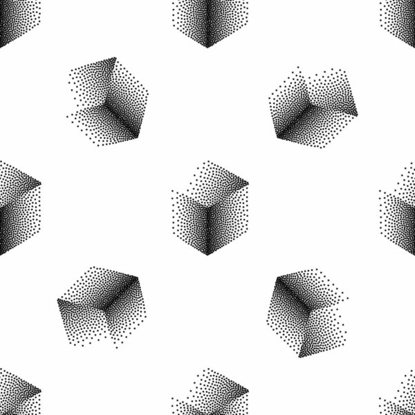 black and white 3D cube self-adhesive wallpaper