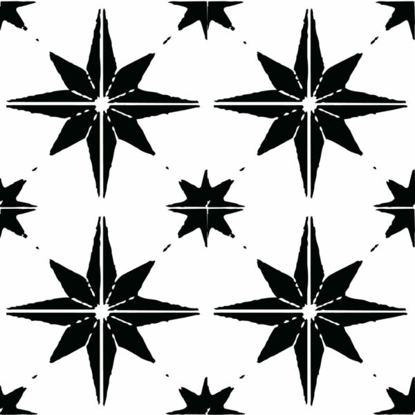 black and white star peel and stick wallpaper