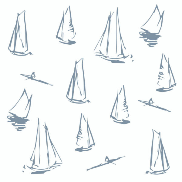 blue and white boat peel and stick wallpaper