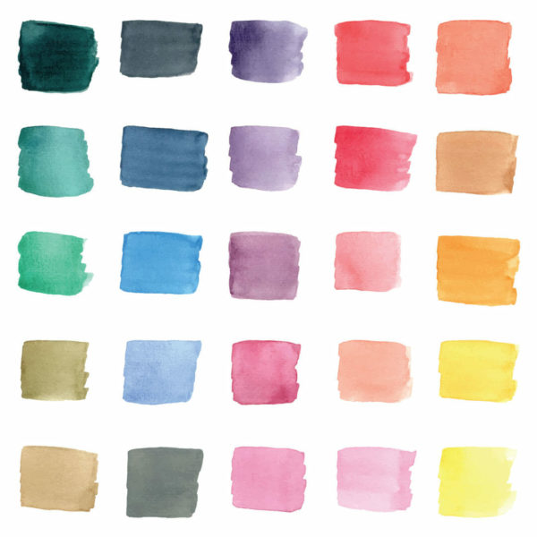 colorful brush stroke peel and stick wallpaper