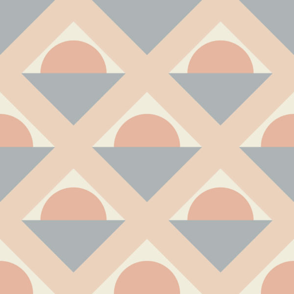 gray and pink geometric removable wallpaper