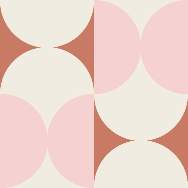 pink and brown geometric peel and stick wallpaper