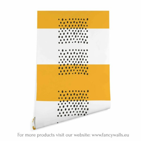 yellow and white stripes peel and stick wallpaper