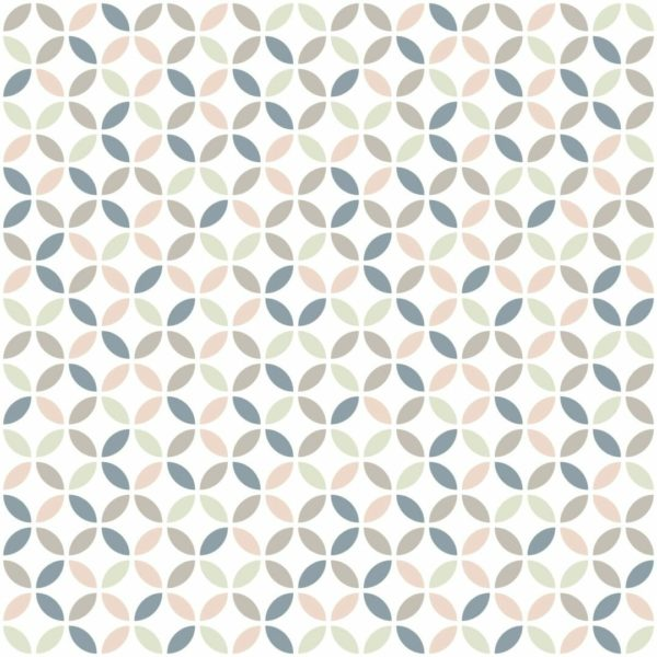 beige and white circles peel and stick wallpaper