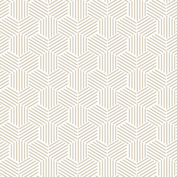 beige and white honeycomb peel and stick wallpaper