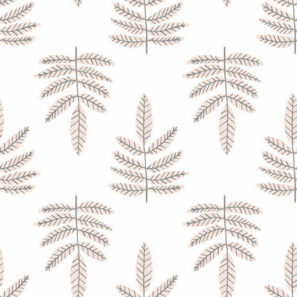 beige and white leaf self-adhesive wallpaper