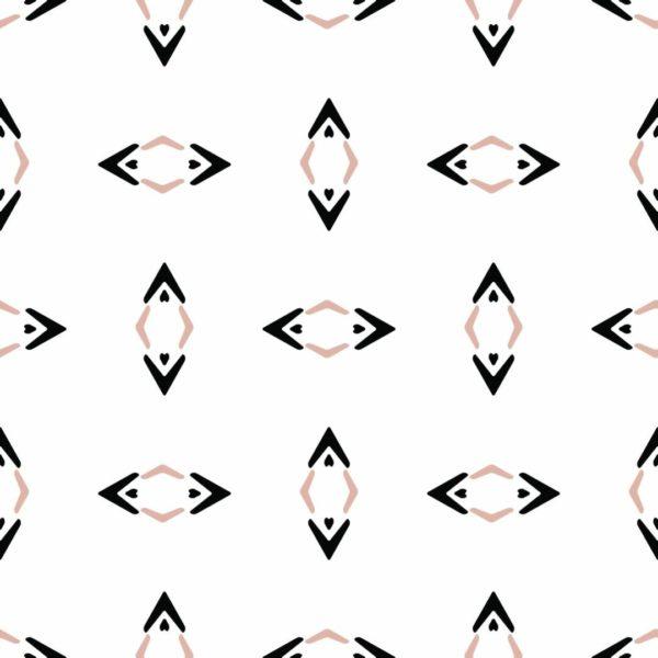 black and beige rhombus peel and stick wallpaper
