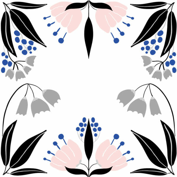 black and white floral peel and stick wallpaper