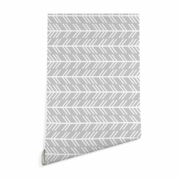 gray and white arrow self-adhesive wallpaper