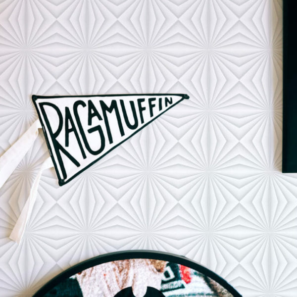 gray and white geometric self-adhesive wallpaper
