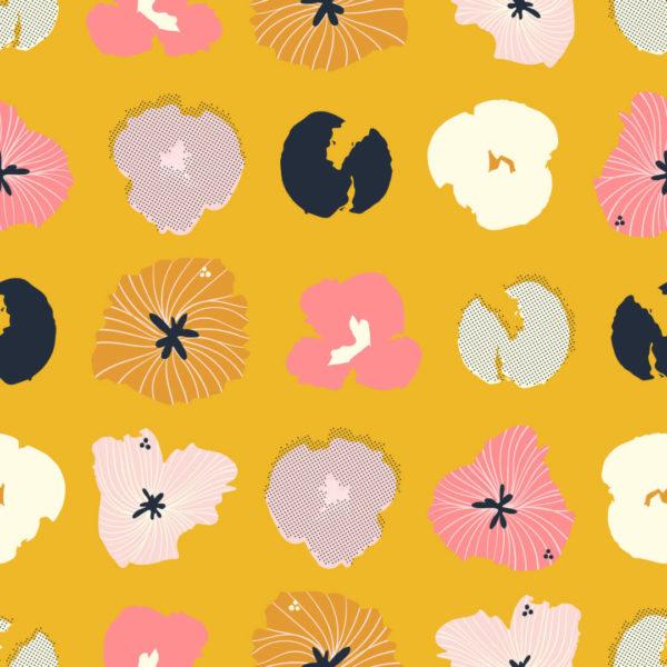 pink and orange floral self-adhesive wallpaper