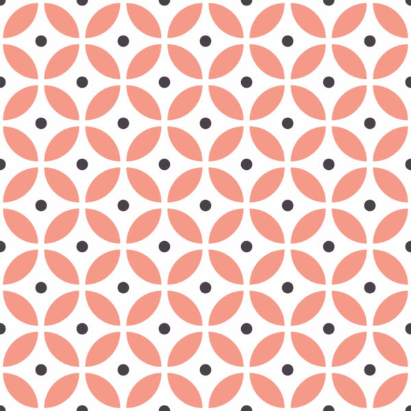 pink and white circle peel and stick wallpaper