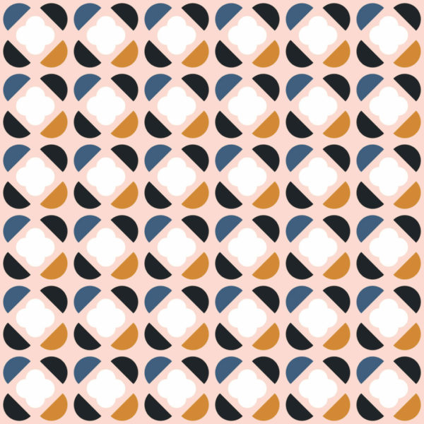 pink and white geometric retro peel and stick wallpaper