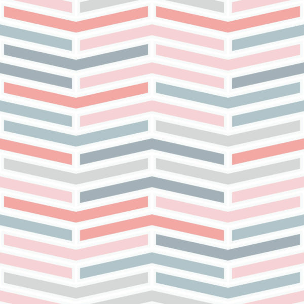 pink and white herringbone self-adhesive wallpaper