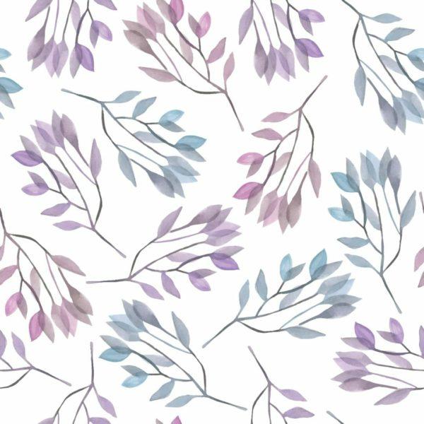 purple leaf peel and stick wallpaper