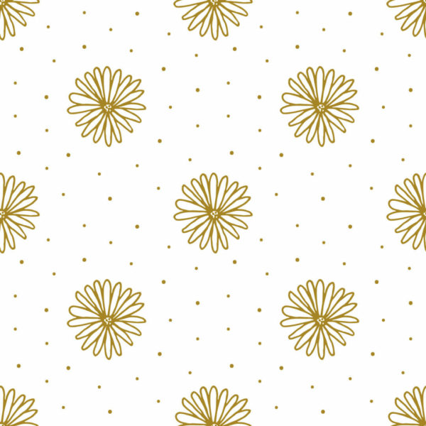 yellow and white floral peel and stick wallpaper