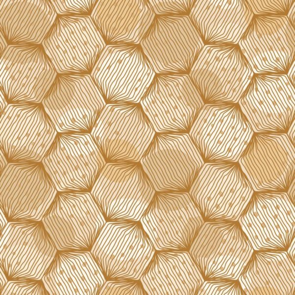 beige and white hexagon peel and stick wallpaper