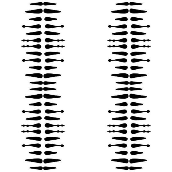black and white minimalistic boho peel and stick wallpaper