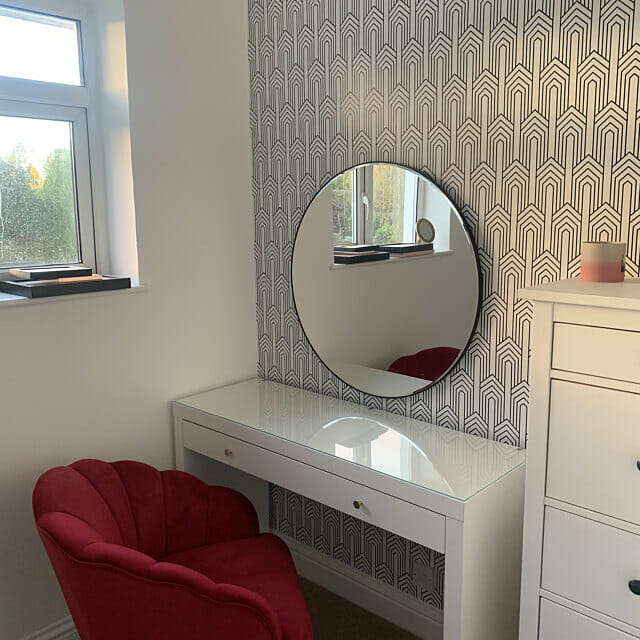 Art deco peel and stick wallpaper review by Gemma