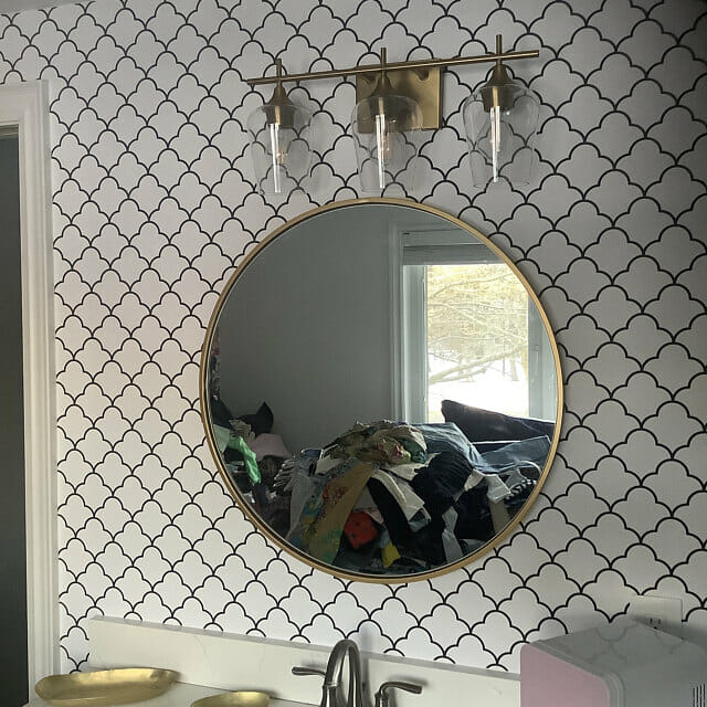 Moroccan lattice peel and stick wallpaper review by Joshua