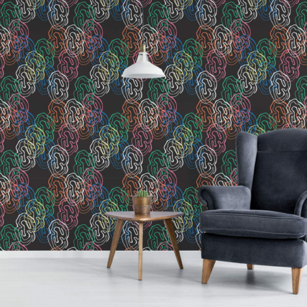 multicolored abstract shapes peel and stick wallpaper