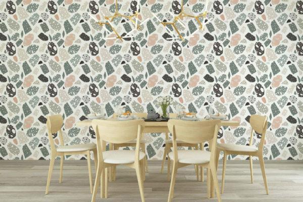 multicolored terrazzo self-adhesive wallpaper