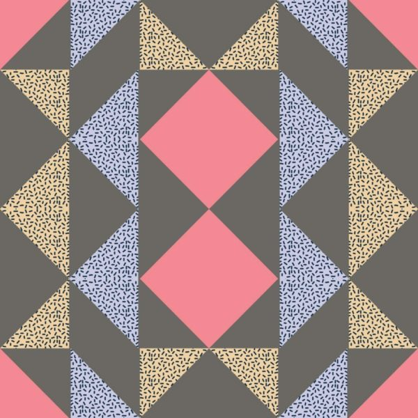 pink and white colorful geometric peel and stick wallpaper
