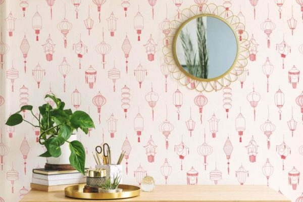 red lantern self-adhesive wallpaper