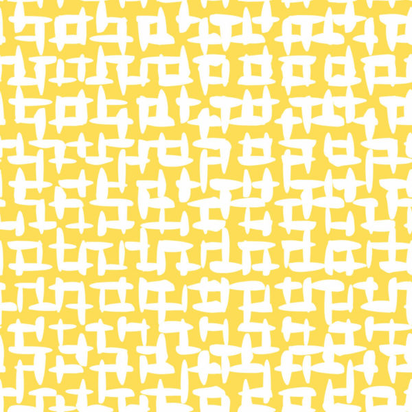 yellow and white abstract square peel and stick wallpaper