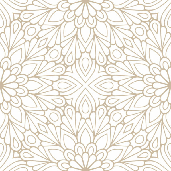 beige and white floral peel and stick wallpaper