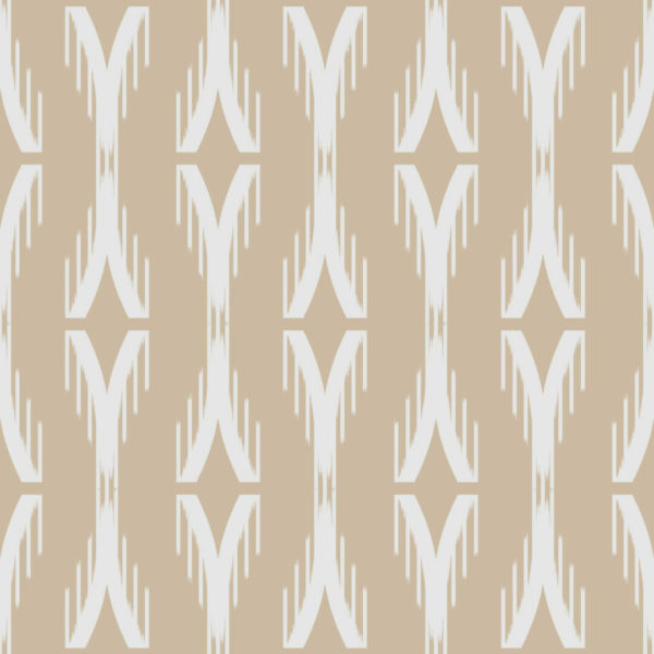 beige and white ikat peel and stick wallpaper