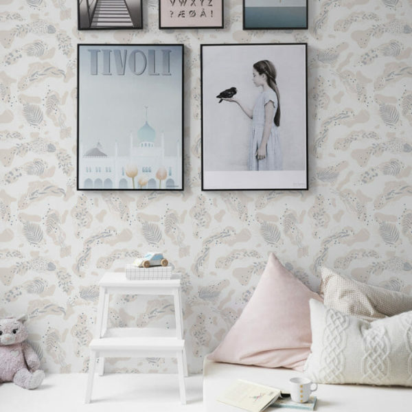 beige boho nursery peel and stick wallpaper