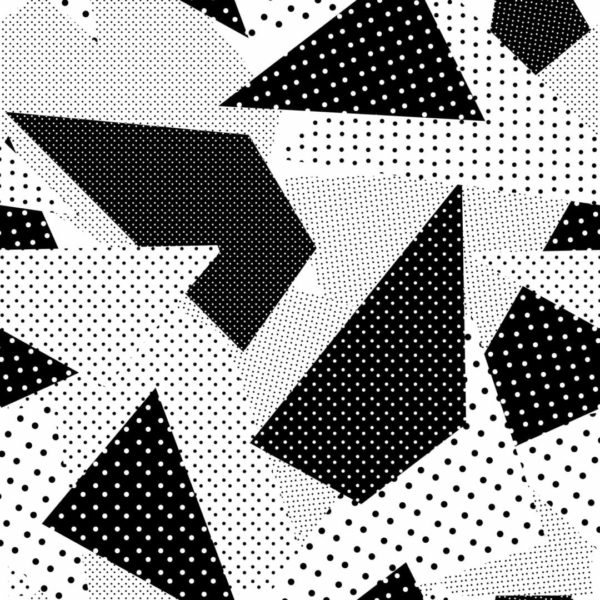 black and white geometric polka dot peel and stick wallpaper