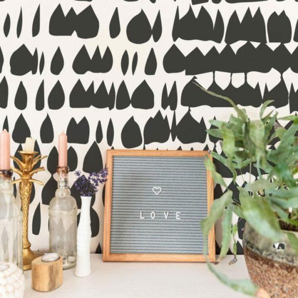 black paint splash peel and stick wallpaper
